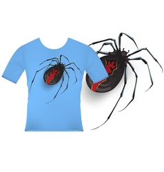 T shirt designs katipo spider vector