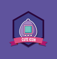 tamagotchi device icon vector image