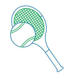 Tennis racquet and ball icon image vector