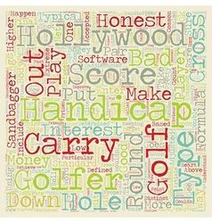 The 3 Types of Handicaps text background wordcloud vector