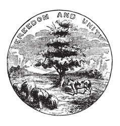 The official seal of the us state of vermont in vector