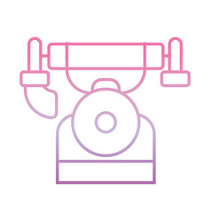vintage telephone phone gradient icon vector image