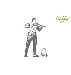 violinist concept sketch isolated vector image