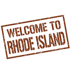 Welcome to rhode island stamp vector