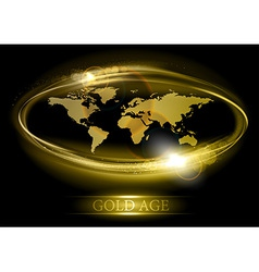 world abstract shine gold vector image