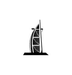 World attractions hotel burj el arab in dubai vector
