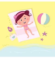 beach babe sunbathing vector image
