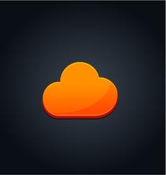Cloud computing concept orange vector image vector image