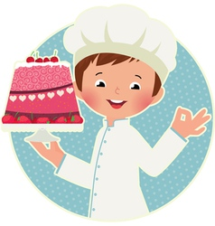Cook with cake vector image vector image