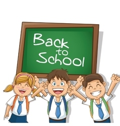 Kids of back to school design vector image vector image