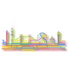 london skyline glow vector image vector image
