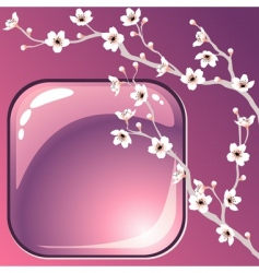 tree blossoms vector image vector image
