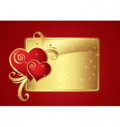 valentine card gold v vector image vector image