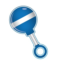 Baby rattle vector image
