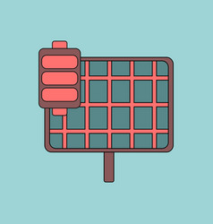 Flat icon design collection solar panel vector