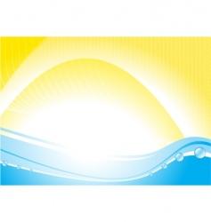 hot sea vector image vector image