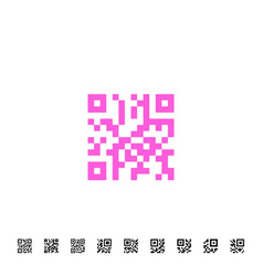 qr code icons vector image