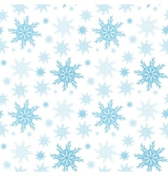 Snowflake seamless background New year pattern vector image
