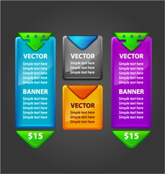 Banner Set for sale or download vector image vector image