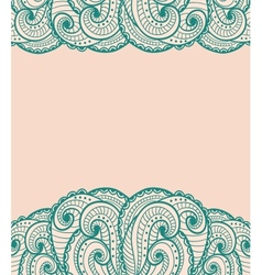 Green and pink card vector image vector image