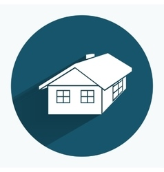 House icon Building household comfort real estate vector image