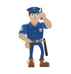 Policeman talking on a vector