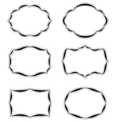 Six blank labels quater vector