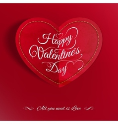 Heart from paper Valentines day EPS 10 vector image vector image