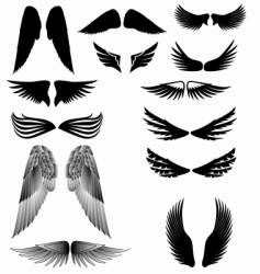 wings silhouette vector image