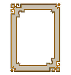 3d golden frame vector