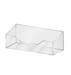 Acrylic business card holder clear plastic stand vector