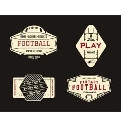 American football field geometric team or league vector