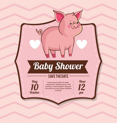 Baby shower card invitation save the date vector