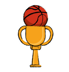 Basketball award cup sport win vector