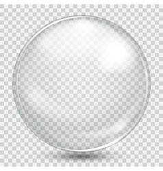 Big white transparent sphere vector
