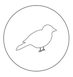 Bird icon black color in circle vector