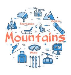 blue mountains concept vector image