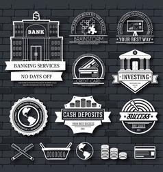 business set label template of emblem element for vector image