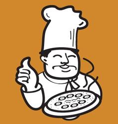 Cartoon baker vector image