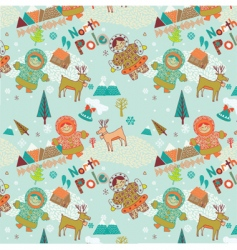 Cartoon Christmas scene vector