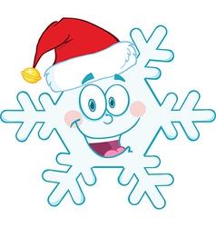 Cartoon snowflake vector image