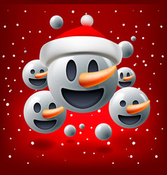 christmas concept for people teamwork red vector image