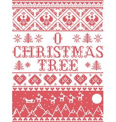 Christmas pattern o christmas tree carol se vector