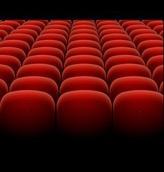 Cinema theater red seats row set vector