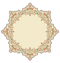Circular islamic background three vector