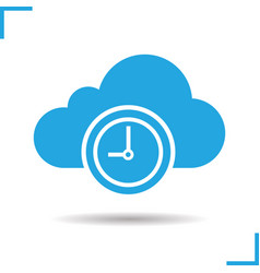 Cloud storage time icon vector