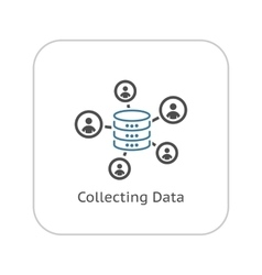 Collecting Data Icon Flat Design vector image