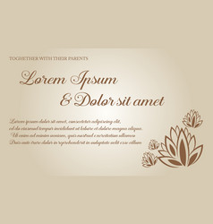 collection background invitation card for wedding vector image