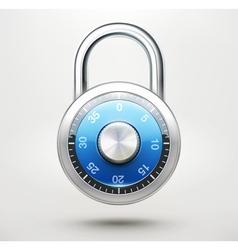 combination pad lock vector image
