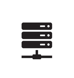 Computer server - black icon on white background vector